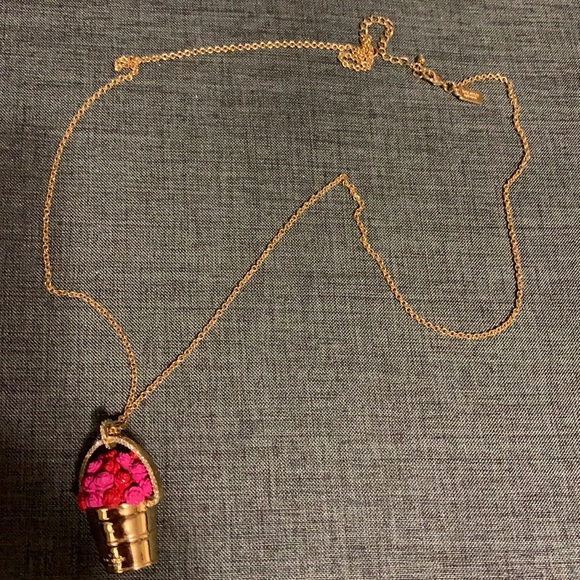 NWOT Kate Spade paint the Town Rose necklace.